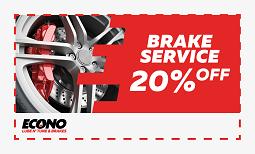 20% brake service